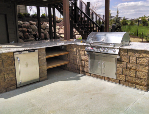 Outdoor grilling oasis