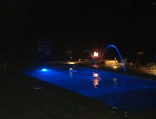 Custom pool design with lighting