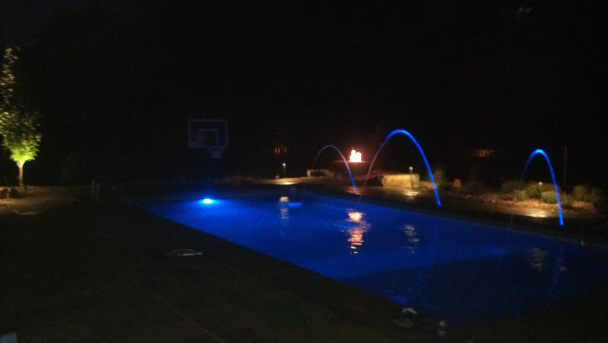 custom pool design with lighting innovative outdoors omaha